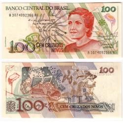 (220a) Brasil. 1989. 100 Cruzados Novos (SC)