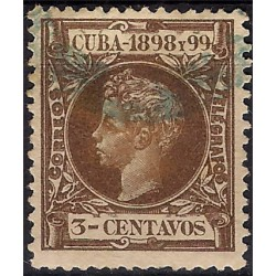 (163) Cuba Colonial. 1898-99. 3 Centavos (Usado)
