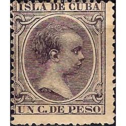 (135) Cuba Colonial 1896. 1 Centavo de Peso (Nuevo, sin goma)