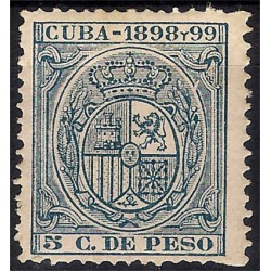 Cuba Colonial. 1898-99. 5 Centavos de Peso (Nuevo, sin goma)