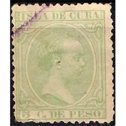 (145) Cuba Colonial. 1891. 5 Centavos de Peso (Usado
