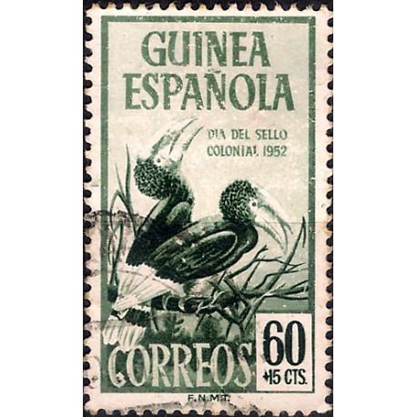 (B24) Guinea Española. 1952. 60 + 15 Céntimos (Usado)