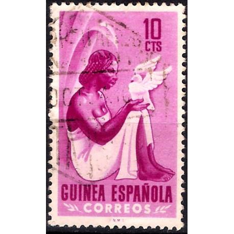 (327) Guinea Española. 1953. 10 Céntimos (Usado)