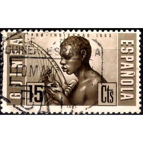 (324) Guinea Española. 1953. 15 Céntimos (Usado)