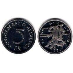 (54) Suiza. 1976. 5 Francs (SC)