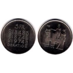(52) Suiza. 1974. 5 Francs (SC)