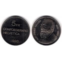 (69) Suiza. 1990. 5 Francs (SC)