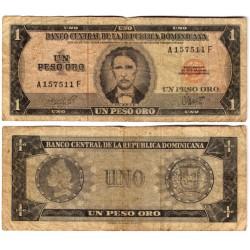 (99a) República Dominicana. 1965-72. 1 Peso Oro (BC-)