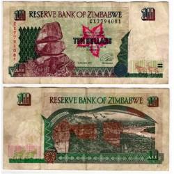 (6a) Zimbabue. 1997. 10 Dollars (BC)