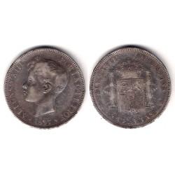 Alfonso XIII. 1897*(18-97). 5 Pesetas (BC) (Plata) Ceca de Madrid SG-V