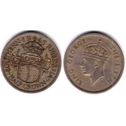 (24) Rhodesia del Sur. 1948. Half Crown (MBC)