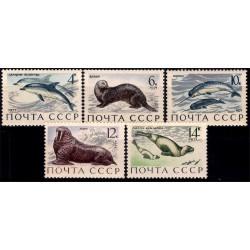 (3882 a 3886) Unión Soviética. 1971. Serie Completa. Fauna Marítima (Nuevo)