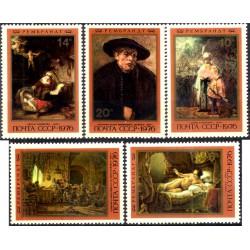 (4511 a 4515) Unión Soviética. 1976. Serie Completa. Rembrandt (Nuevo)