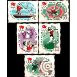 (4445 a 4449) Unión Soviética. 1976. Serie Completa. Deportes Olímpicos (Nuevo)