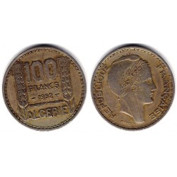 (93) Algeria. 1952. 100 Francs (MBC)