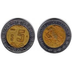 (605) Estados Unidos Mexicanos. 2000. 5 Pesos (MBC-)