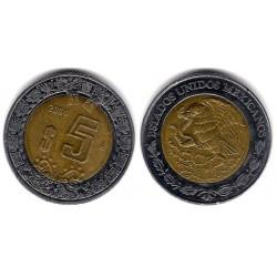 (605) Estados Unidos Mexicanos. 2004. 5 Pesos (MBC-)