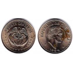 (215.2) Colombia. 1964. 20 Centavos (SC) Mancha