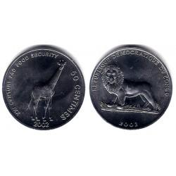 (78) Congo. 2002. 50 Centimes (SC)
