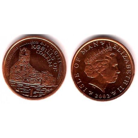 (1036) Isla de Man. 2002. 1 Cent (SC)