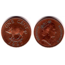 (44b) Bermudas. 1997. 1 Cent (SC)