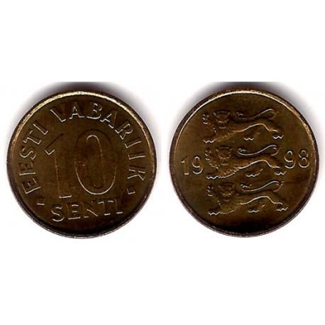 (22) Estonia. 1998. 10 Senti (SC)