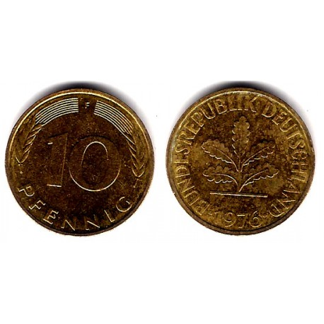 (108) Alemania. 1976(F). 10 Pfennig (MBC+)