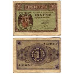 Estado Español. 1938. 1 Peseta (BC) Serie A