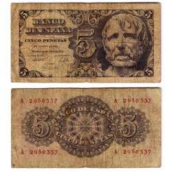 Estado Español. 1947. 5 Pesetas (RC) Serie A