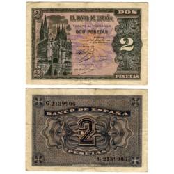 Estado Español. 1938. 2 Pesetas (MBC) Serie G