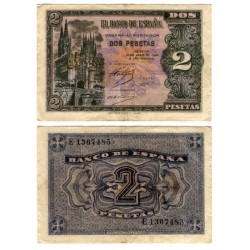 Estado Español. 1938. 2 Pesetas (MBC) Serie E
