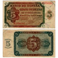 Estado Español. 1938. 5 Pesetas (MBC) Serie H