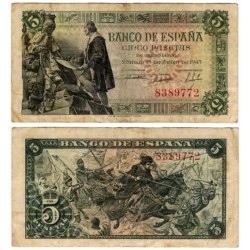 Estado Español. 1945. 5 Pesetas (MBC-) Sin Serie