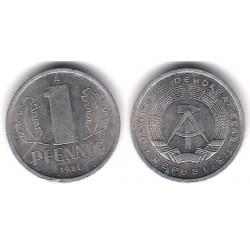 (8.2) Alemania Democrática. 1981(A). 1 Pfennig (MBC)