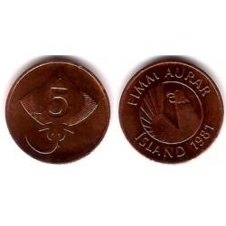 (24) Islandia. 1981. 5 Aurar (EBC)