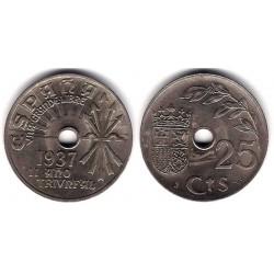 Estado Español. 1937. 25 Céntimos (EBC+)