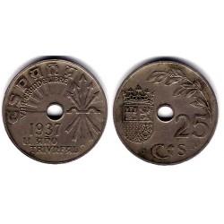 Estado Español. 1937. 25 Céntimos (BC)