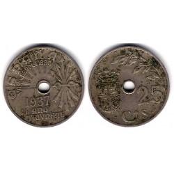Estado Español. 1937. 25 Céntimos (BC-)