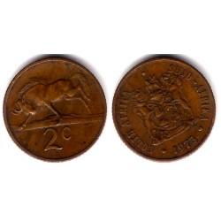 (83) Sudáfrica. 1973. 2 Cents (MBC)