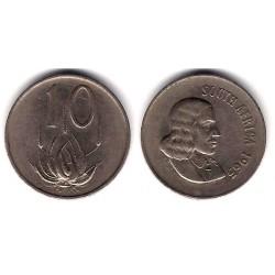 (68.2) Sudáfrica. 1965. 10 Cents (MBC)