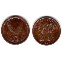 (159) Sudáfrica. 1996. 2 Cents (EBC)
