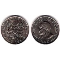 (13) Kenia. 1977. 50 Cents (SC)