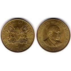 (17) Kenia. 1980. 5 Cents (MBC)