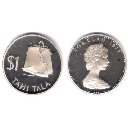 (2) Tokelau. 1979. 1 Tala (Proof) (Plata)