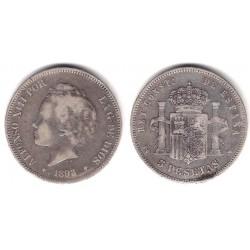 Alfonso XIII. 1893*(-----). 5 Pesetas (RC+) (Plata) Ceca de Madrid PG-V