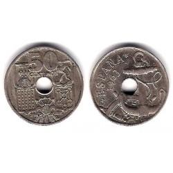 Estado Español. 1963*(19-65). 50 Céntimos (EBC) Variante