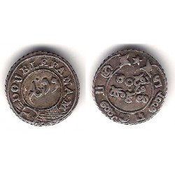 India Británica. 1800-1820. Double Fanam (MBC) (Plata) Madras Presidency