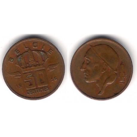 (149.1) Bélgica. 1956. 50 Centimes (MBC+)