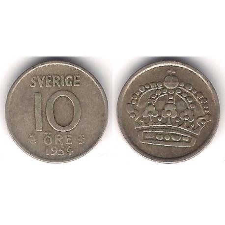 (823) Suecia. 1954. 10 Ore (BC-) (Plata)