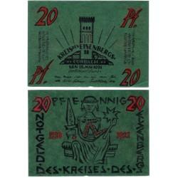 Alemania. Eisenberg. 1921. 20 Pfennig (EBC+)